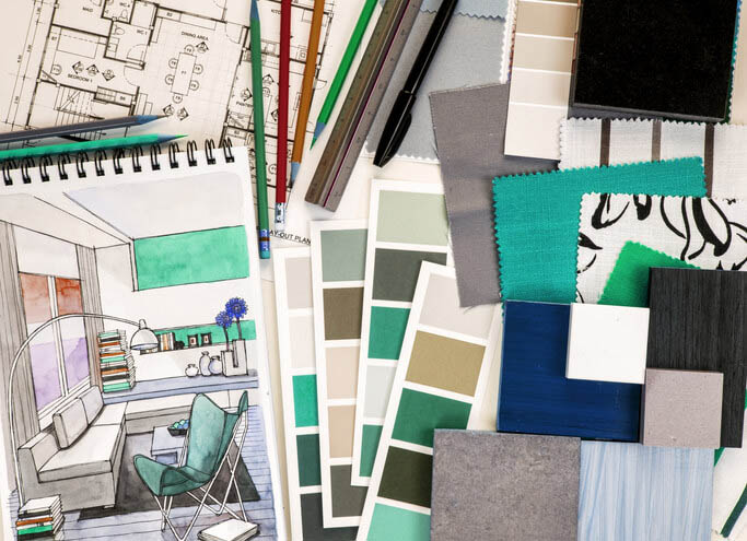 Interior design blueprints